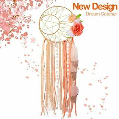 Bohemian Wall Hanging Dream Catcher Handmade Feather Dream Catcher with Flowers