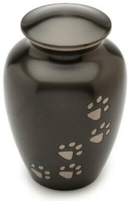 "Urns UK Pet Cremation Memorial Urn Matlock, Black 6"" Small, 6"","