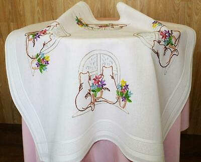 """Charming Embroidery Package """"Togetherness Trust"""" - Cats On The Windowsill -..."""