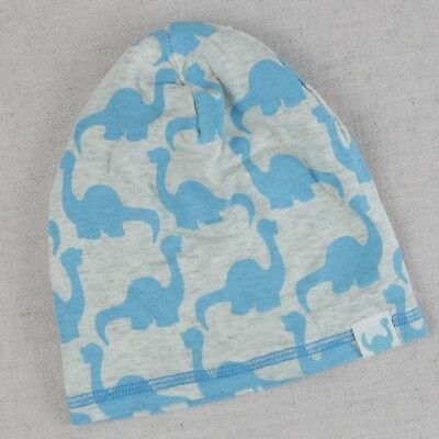 96c6a848e1397 H M Baby Hat Beanie Size 2-6M Girls Boys Dinosaur Print Modal Stretch Lined  Gray