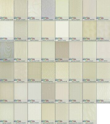 """Cream Ivory Vertical Blind Slats Replacement Fabrics 89mm(3.5"""") Made to Measure"""