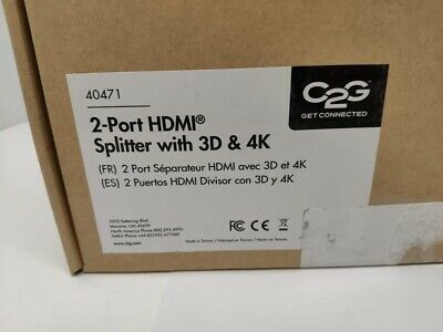 C2G/Cables to Go 40471 2-Port HDMI Splitter