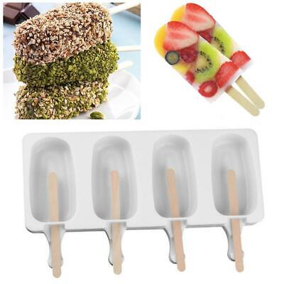 Frozen Ice Cream Mold Juice Popsicle Maker Ice Lolly Pop Mould -4 Cell super one