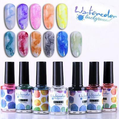 Marble Pattern Nail Polish Ink Gel Watercolor Gradient Nail Art Manicure Decorer
