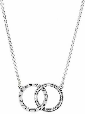 Genuine Pandora Sterling Silver Circles Necklace - 396235CZ 45cm