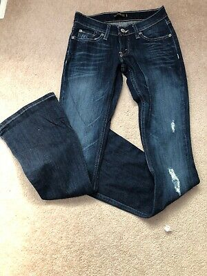a9ca96a01bd Levis 524 Too Superlow Womens Jeans 1 Dark Wash Low Rise Flare Flap Pockets