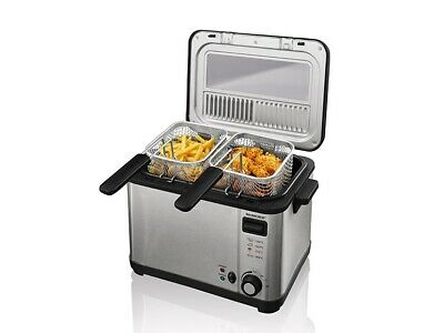 Stainless steel Deep-fat Fryer 4 L 2000W Silvercrest with 3baskets 1 large2small