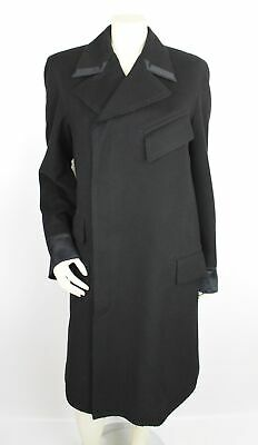 5606819f4 Gucci Tom Ford Black Wool Silk Cashmere & Satin Trim Tuxedo Car Coat Size  Large