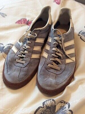 superior quality 63e90 484fc Vintage Very Rare 70s 80s Adidas Trainers Blue White Size 9
