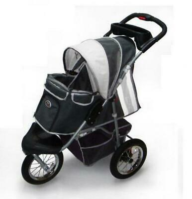 Pet Stroller,IPS-045,Dark Grey/ Light Grey, dog Dark Grey