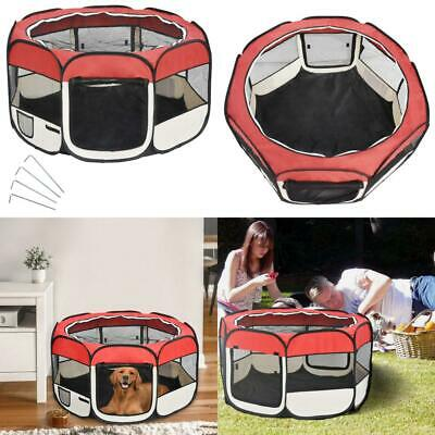 Wellhome 8-Panel Foldable Puppy Playpen Play Pen for Dogs Cats Pets Black