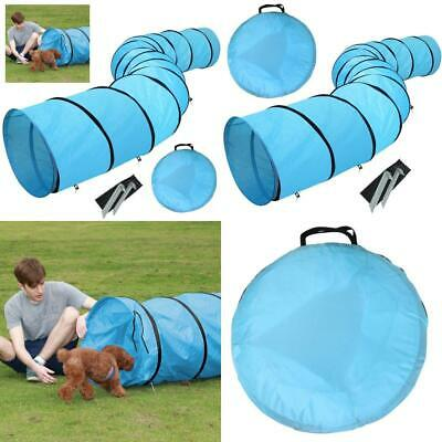 Yaheetech Pet Dog Agility Training Tunnel Game with Pegs Carry Case, Blue...
