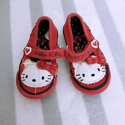 Next baby girl toddler hello kitty red fabric summer sandals slipon size 3