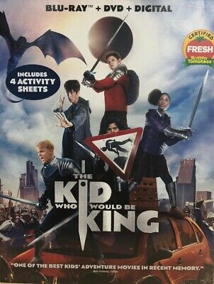 The Kid Who Would Be King (Blu-ray+ DVD + Digital) Brand New Free Shipping