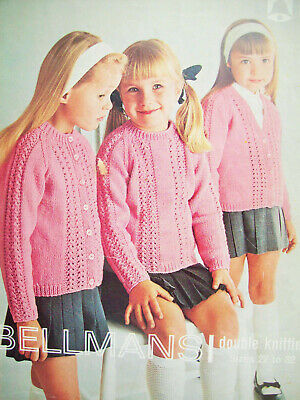 Girls CABLE CARDIGAN KNITTING PATTERN DK quick easy knit 22-34in 2-16yr 3989