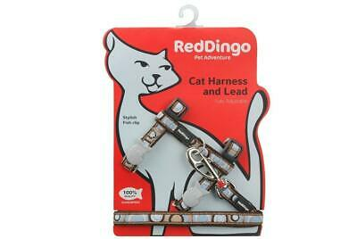 Red Dingo Circadelic Brown Cat Lead/Harness adjustable,