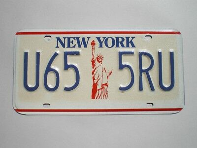 Authentic 1987 New York License Plate
