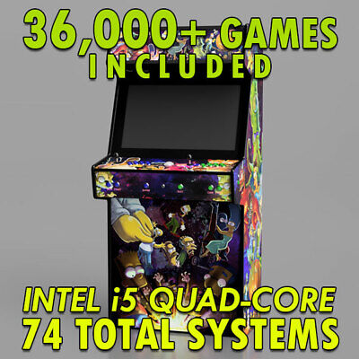 CUSTOM BUILT UPRIGHT Video Game System With 2800 Classic Games