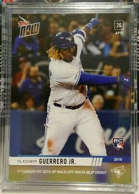 VLADIMIR GUERRERO JR. 2019 Topps NOW 137  Rookie Debut  1st  Topps NOW RC Logo