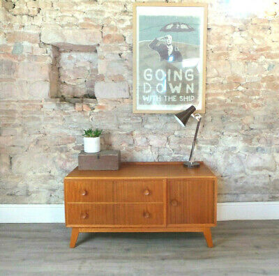 Vintage mid century 1950s MEREDEW oak low sideboard unit drawers dressing table