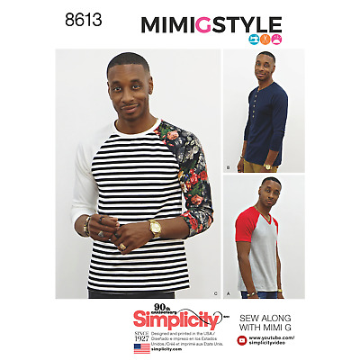 Simplicity Sewing Pattern 8613A Mens Top