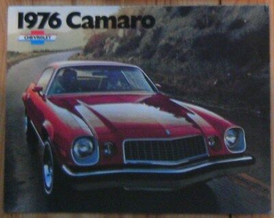 Camaro 76 Chevrolet Document Publicitaire D'origine