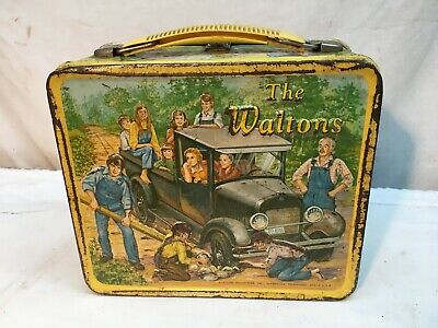 "Vintage 1973 The Waltons, Metal Lunchbox Aladdin INDUSTRIES "" BUT NO THERMOS"""