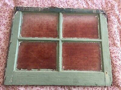 Rustic Architectural Salvage Vintage Window Pane Discolored Glass