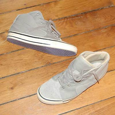 $486 NONNATIVE Mens Canvas Leather Green High Top Sneakers US10.5 EU43 Japan