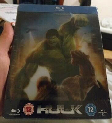 The Incredible Hulk - Zavvi Uk Lenticular Blu Ray Steelbook - New!