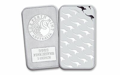 "Perth Mint ""Kangaroo"" 1oz (.9999) Silver Bar (capsuled)"