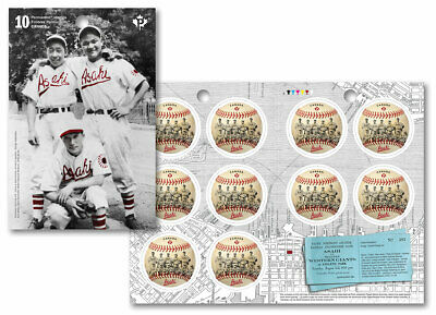 2019 Canada Vancouver Asahi Booklet Of 10 Stamps Baseball Shaped Circle Japanese