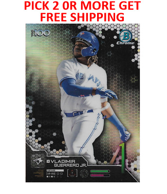 2019 Bowman Chrome Scouts Top 100 Singles Pick 2 or More Get Free Shipping