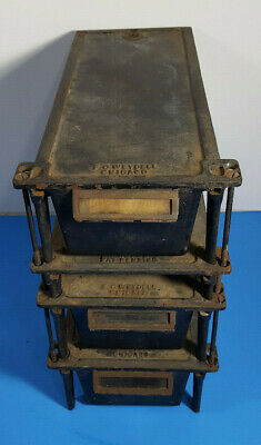 F O Weydell Cast Iron Drafting Table Desk Accessories Antique Steampunk