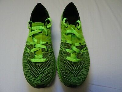 69e2ce4ea54a 2012 Nike Flyknit Trainer Og Electric Green Black White 532984 301 Sz 6.5
