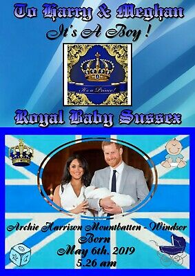 Royal Baby Sussex Birth - Harry & Meghan - Poster