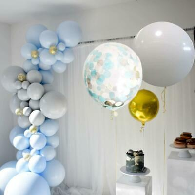 Pastel Blue, Grey Confetti Balloon Garland Kit 3M-Party Decorations-Baby Showers