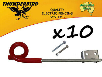 10 x Thunderbird 150mm Multirigger Pigtail Offset Insulator Electric Fence