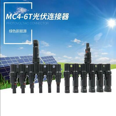 Solar Panel Connector Male to Female 6T Branch 6 to 1 PV Connectors IP67