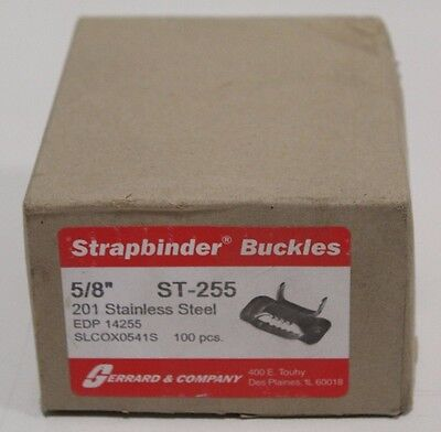Gerrard Company Strapbinder ST-255 201 Stainless Steel Buckle SLCOX0541S 100 Pcs