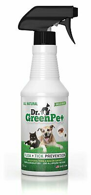 All Natural Flea and Tick Prevention and Control Spray for Dogs and Cats - 16oz