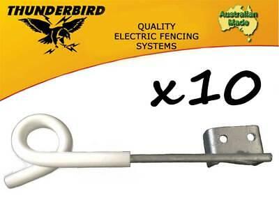 10 x Thunderbird 250mm Multirigger Pigtail Offset Insulator Electric Fence