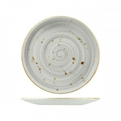 12x Round Coupe Plate 275mm Rustic Grey Longfine Wellington Crockery Commercial