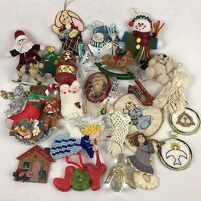 Christmas Ornament Junk Drawer Mixed Lot 30 For Crafters Collectors Newlyweds