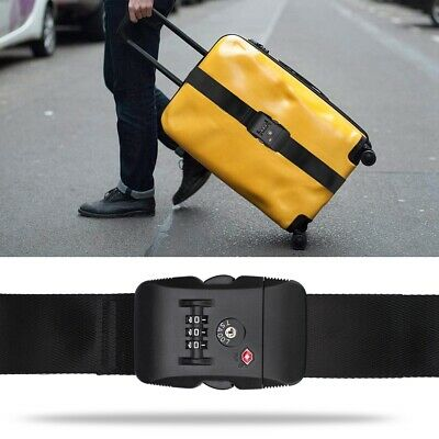 CarryOn 2m Adjustable Luggage Strap with(out) a Built-in TSA Combination Lock AU