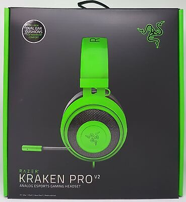 Razer Poulpe Pro V2 Rgb Gaming Headset Ovale Microphonevert