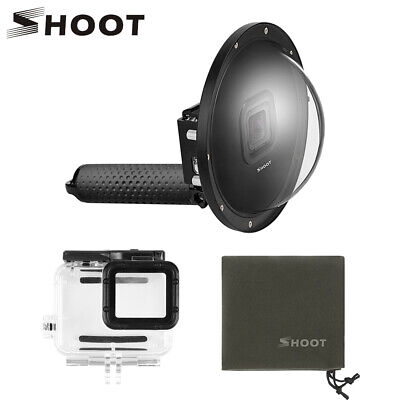 SHOOT 6 inch Dome Port Diving Waterproof Housing Case for GoPro Hero 7 Black 6 5