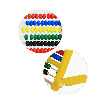 Childrens Wooden Bead Abacus Counting Frame Educational Math Learning Toys C