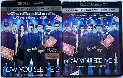 Now You See Me 2 4K Ultra Hd Blu Ray 2 Disc Set + Slipcover Sleeve Free Shipping