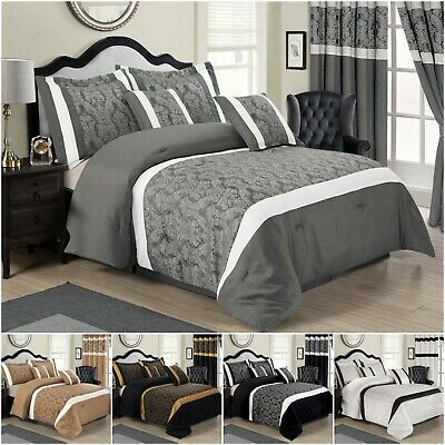 3 Piece Quilted Bedspread Throw & Pillow Shams Set Single Double King Super King